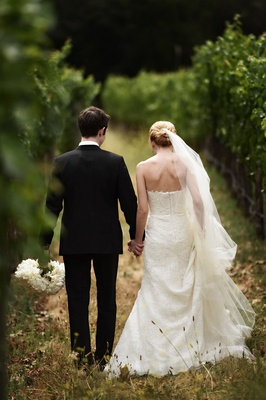 Calistoga Ranch wedding Napa bride and groom