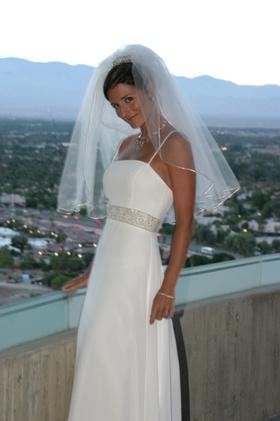 Demetrios floor-length bridal gown