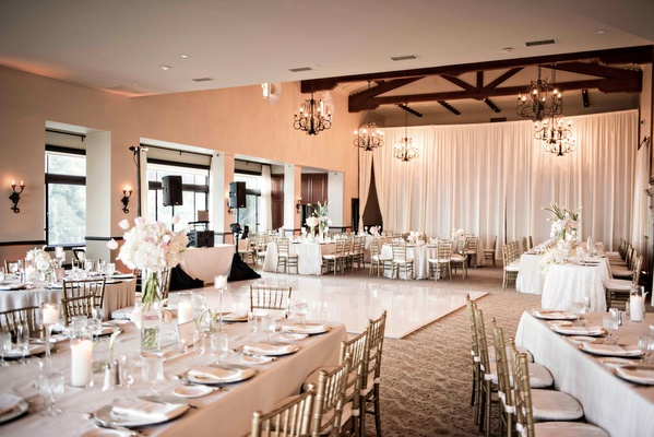 light hued reception space california ballroom bel-air bay club ivory blush dance floor glass