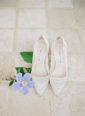 Manolo Blahnik lace shoes wedding pumps sheer classic style bridal heels