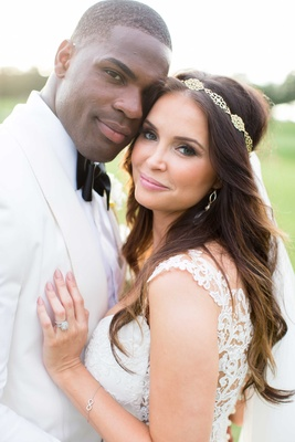 DeMarco and Heidi looking stunning at their wedding