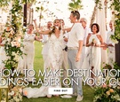 how to make attending a destination wedding easier, how to accommodate guests at destination wedding