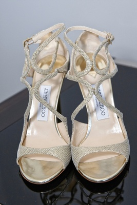 jimmy choo gold wedding shoes peep toe sandals