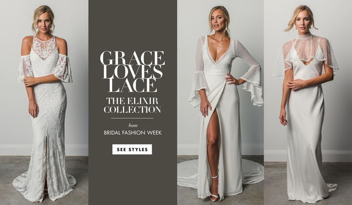 new wedding dresses from grace loves lace, elixir collection