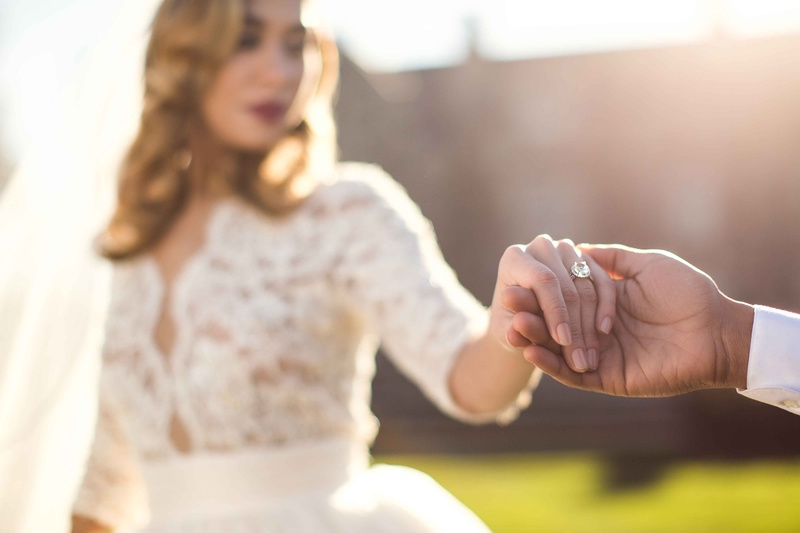 sparkling engagement ring brides hand solitare wedding styled shoot love jewelry big new york