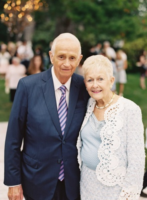 Bill Marriott and Donna Garff at granddaughter Elyse Marriott's wedding at family home