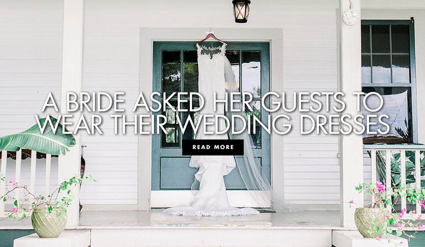 a bride asked her guests to wear their wedding dresses to her wedding