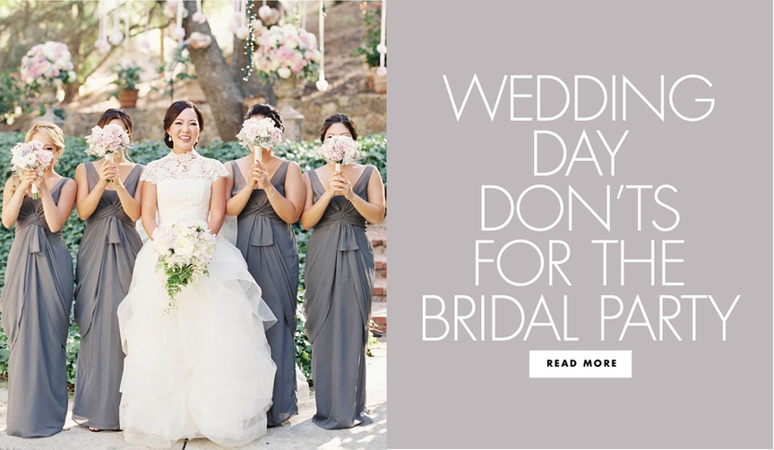 what a bridesmaid shouldn't do, bad bridesmaid behavior