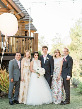 Wedding reception portraits youtube singer megan nicole and cooper green with parents mother bride