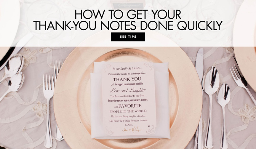 How to get your thank you notes done quickly wedding etiquette