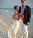 Casual beachy wedding attire and shoes