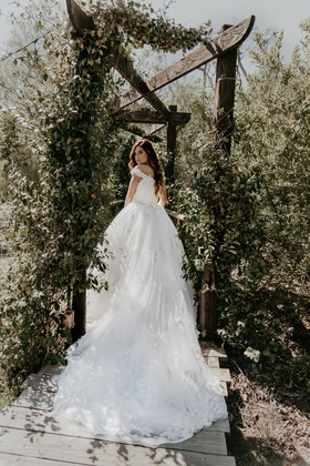 Echosmith singer Sydney Sierota and Cameron Quiseng wedding dress at garden venue in escondido ca