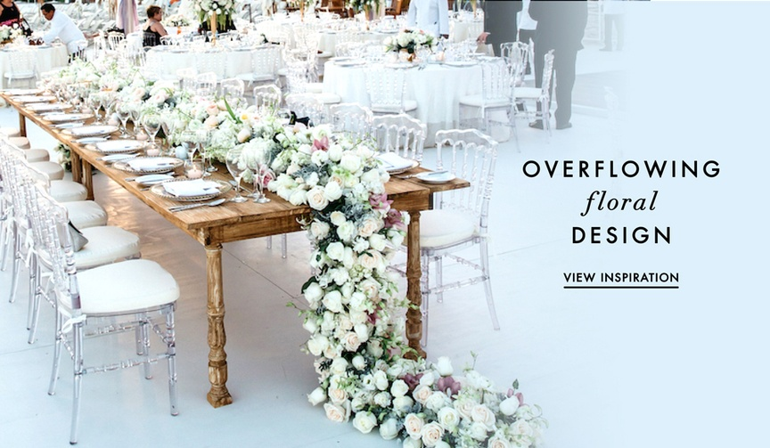 Wedding flower ideas floral table runners