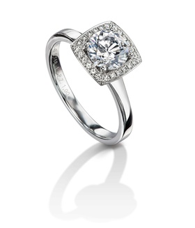 Furrer Jacot 53-66670-5-W platinum engagement ring