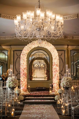wedding chandelier decorations formal manhattan wedding with opulent ballroom d 233 cor 8955