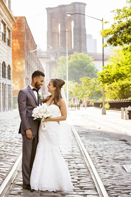 Intimate Wedding in Dumbo, Brooklyn  26 Bridge