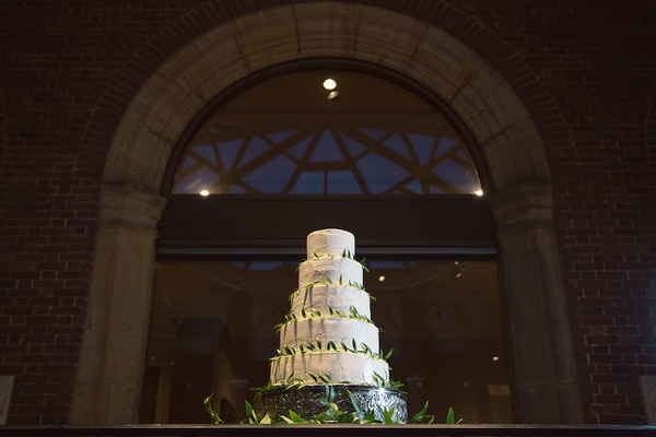5 tier five white wedding cake dayton ohio fresh leaves greenery around desserts yummy simple