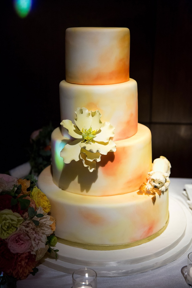 Cakes & Desserts Photos - Ombré Wedding Cake with Flowers - Inside ...