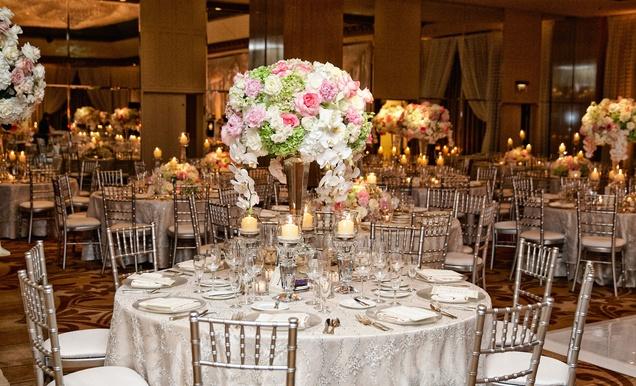Church Wedding Ceremony Luxe Ballroom Reception In Chicago