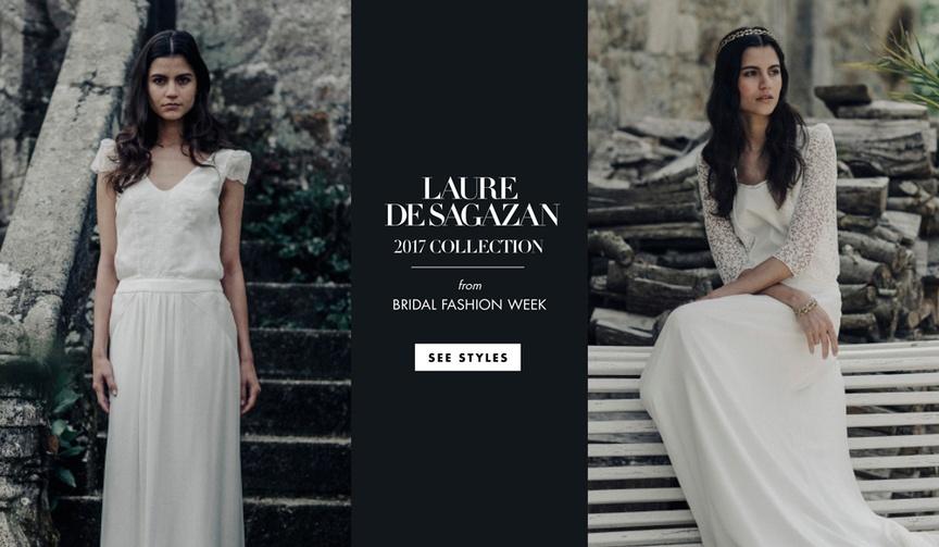 Boho-chic wedding dresses blouses skirts garments Laure de Sagazan 2017 collection