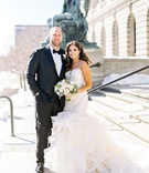 mitchell schwartz nfl player kansas city chiefs cleveland browns nfl wedding bride in mermaid dress