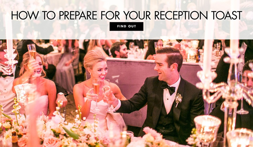 tips for writing your welcome wedding reception toast