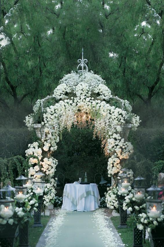 Ceremony Dcor Photos Flower Covered Gazebo Ceremony Inside Weddings