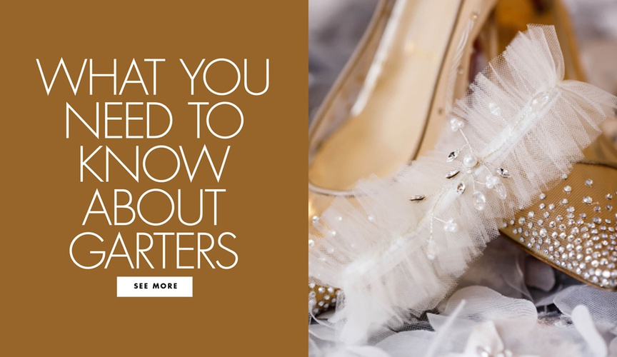 how to wear a garter at your wedding, how to make a garter work with your wedding dress