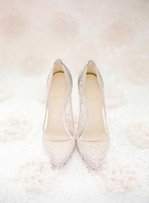 Wedding Shoes - High Heels Worn by Real Brides - Inside Weddings bd416bb64687