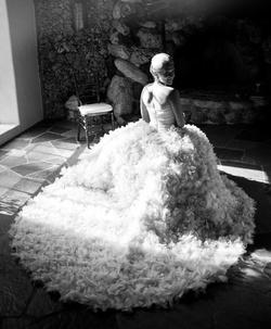 DFW Events bride Chloe wears a striking Romona Keveza ball gown.