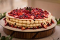 traditional italian style sfoglia cake for wedding with cream and berries