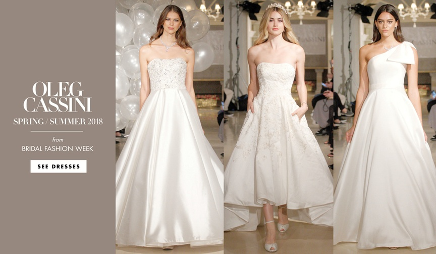 Oleg Cassini spring summer 2018 wedding dress collection bridal gowns bridesmaid dresses