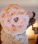 Courtney Mazza's sparkling bridal bouquet