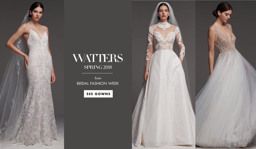 Bridal Fashion Week: Watters Spring 2018