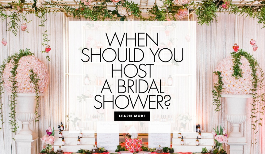 When should you host a bridal shower how far in advance to host a bridal shower