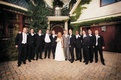 bride teddi mellencamp poses with groomsmen