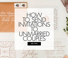how to address wedding invitations to unmarried couples