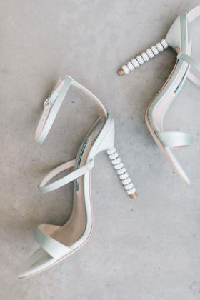 Wedding shoes sophia webster Rosalind Strappy Bridal Sandal, Ice Blue crystal beaded heel