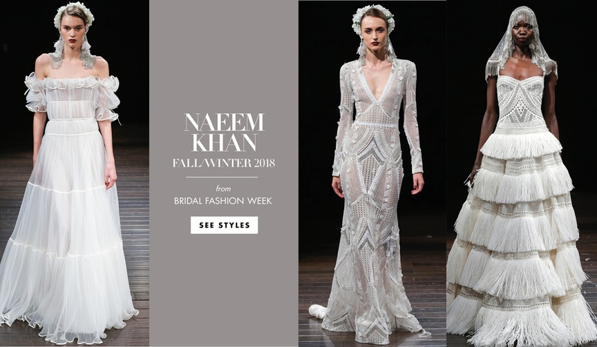 Bridal Fashion Week Naeem Khan Fall 2018