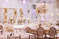 wedding reception castle venue gold white high low centerpieces bride and groom gold sweetheart
