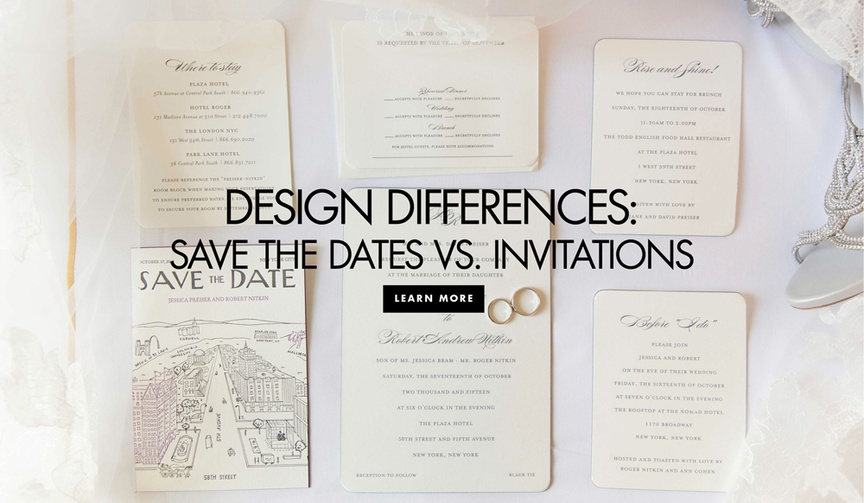 design differences between save the dates invitations wedding personality unique ideas expert advice