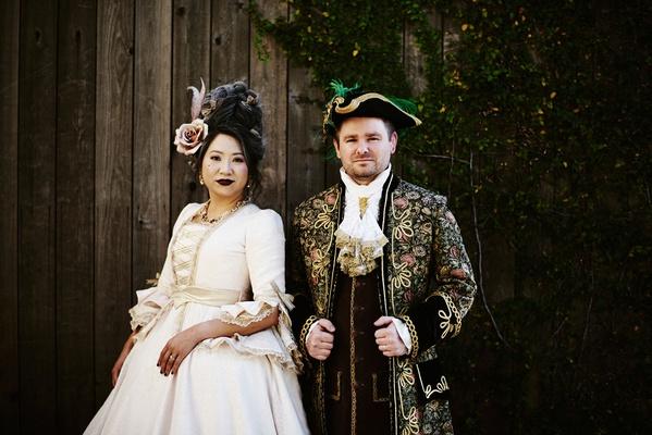 halloween wedding attire bride and groom makeup costumes halloween wedding