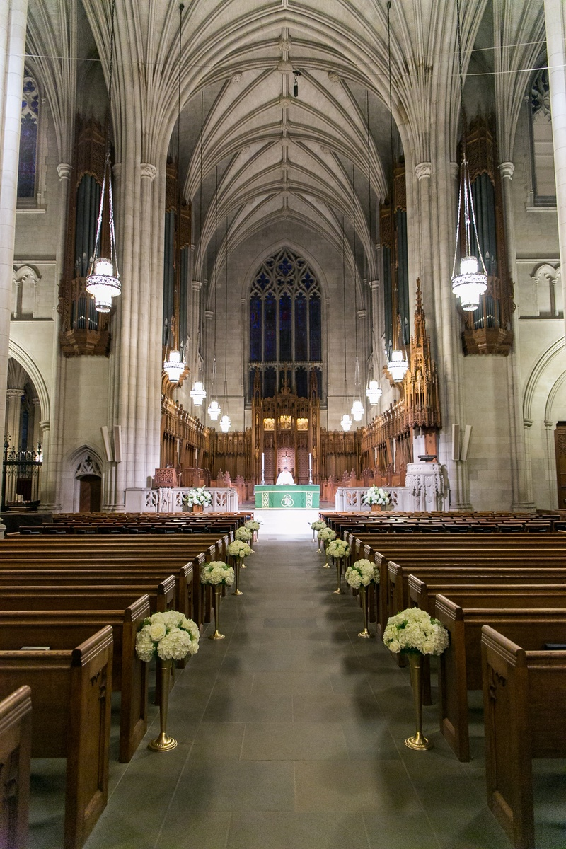Duke University Chapel 0 Favorites Repins Wedding Cathedral With White Flower Aisle Decorations