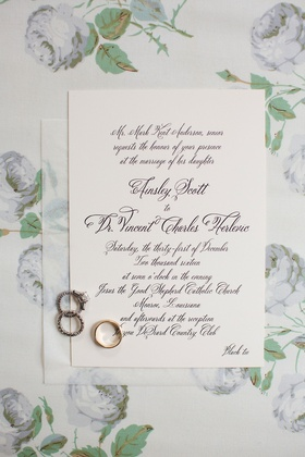 Wedding invitation simple white stationery with black calligraphy and black tie dress code wedding
