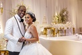 happy bride and groom nfl player wedding tahir whitehead oakland raiders shannon perkins ball gown