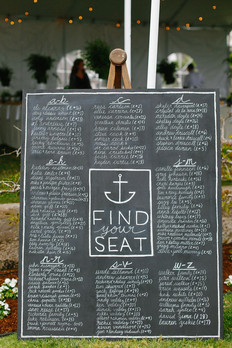 Invitations More Photos Large Nautical Chalkboard Seating Chart