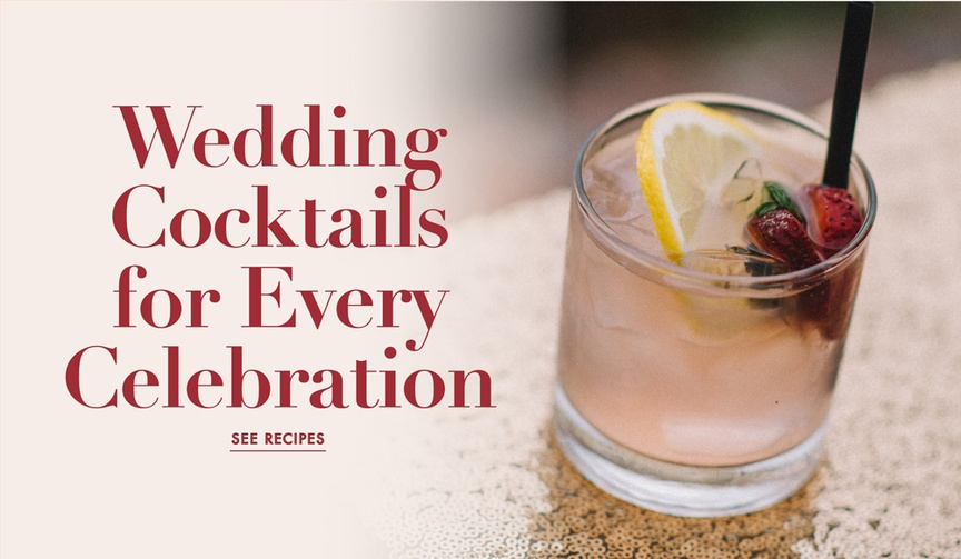 Wedding signature cocktail ideas for engagement party, bachelorette party, and more