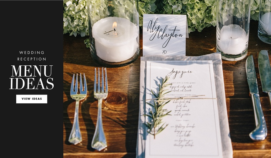 Clever designs and ways to present your wedding menu