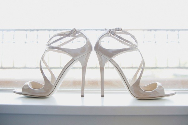 jimmy choo wedding shoes with straps in patent leather