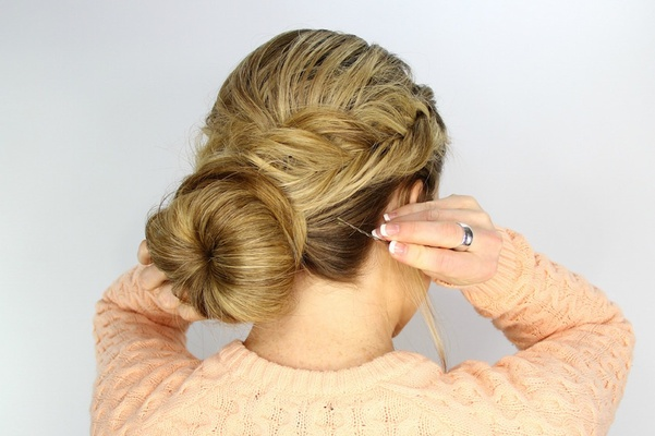 Wedding Day Hairstyles: Fishtail Braid Wrapped Bun
